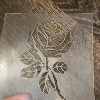Трафарет «Роза»