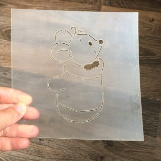 Форма+трафарет Мышка в варежке