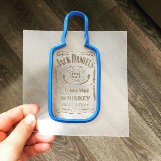Бутылка «Джек Дэниэлс» форма+трафарет