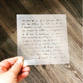 Письмо трафарет