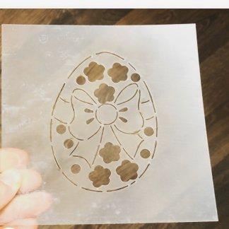 Пасхальное яичко форма+трафарет