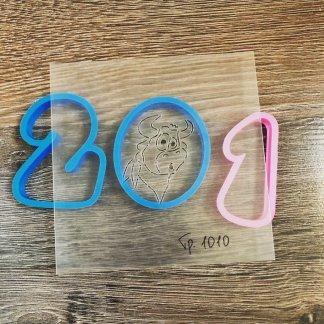 Набор 2021, форма+трафарет