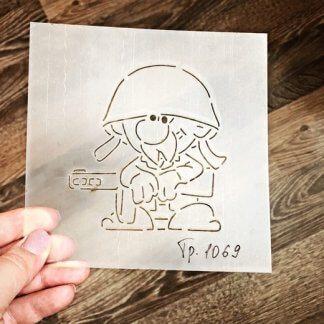Солдат 3, Вырубка+трафарет