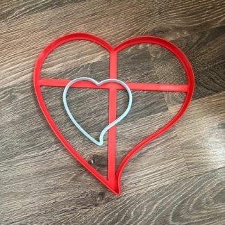 Сердце из 2-х частей, Вырубка для торта