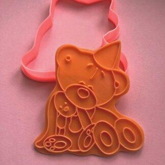 Мишка с игрушкой, Форма+штамп