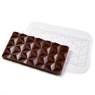 Форма пластиковая для шоколада «Плитка пирамиды