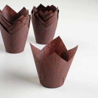 Форма для выпечки «Тюльпан», коричневый, 5 х 8 см