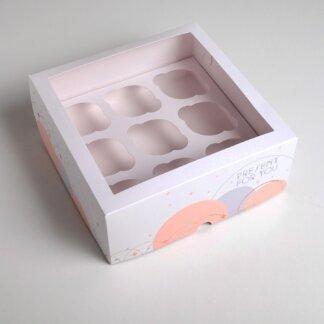 Коробка на 9 капкейков Present 25 х 25 х 10см