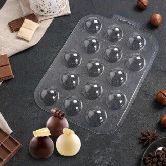 Форма пластиковая для шоколада «Сферы 30 мм»