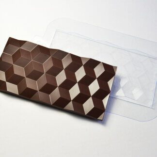 Форма пластиковая для шоколада «Плитка кубики»