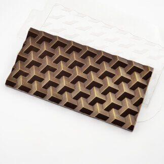 Форма пластиковая для шоколада «Плитка экстра»