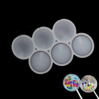 Силиконовая форма для леденцов «Круглые погремушки 5 см»