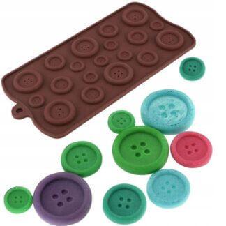 Форма силиконовая для шоколада «Пуговицы»