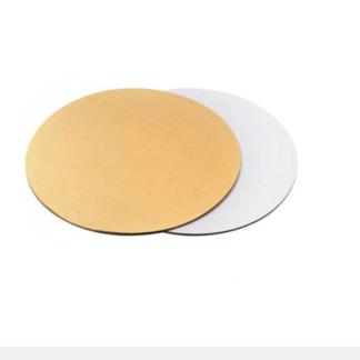 Подложка круглая 28 см, золото белая, 3.2 мм
