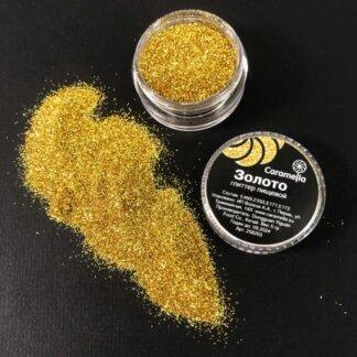 Глиттер пищевой «Золото» 5 г Caramella